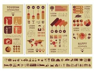 信息图形集世界地图和信息图形09
