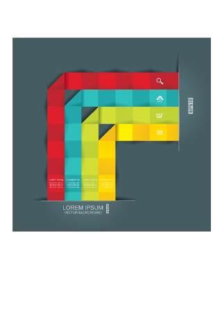 现代设计元素信息图形贴纸和横幅15