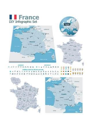 世界地图信息图表201