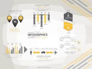 信息图形集世界地图和信息图形05
