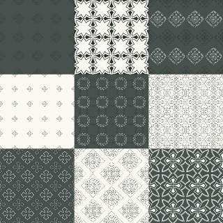 优雅的几何无缝图案集合16