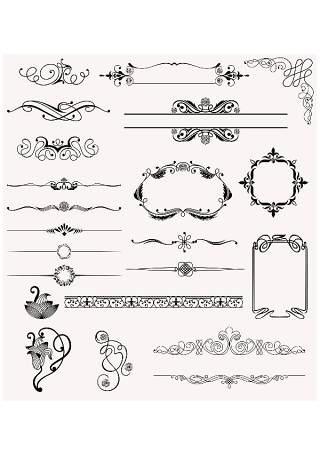 书画装饰设计元素3201