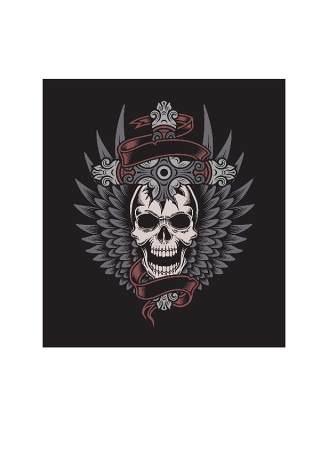 木刻风格服装的T恤印花06