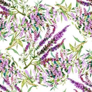 可爱的水彩无缝花卉和其他图案12