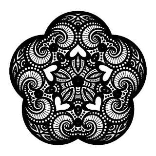 圆形和星形装饰图案02
