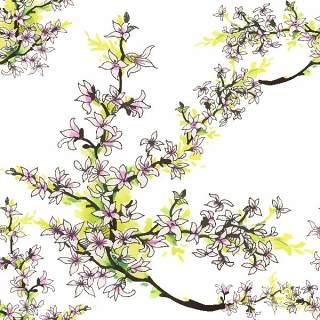可爱的水彩无缝花卉和其他图案15
