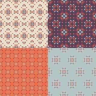优雅的几何无缝图案集合09