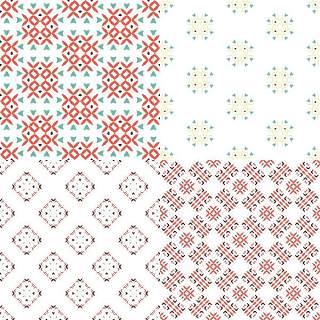 优雅的几何无缝图案集合17