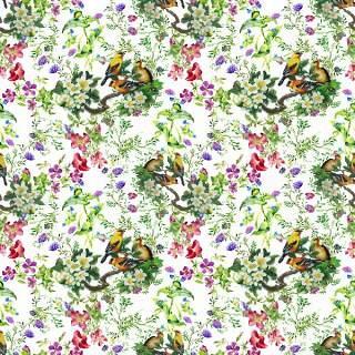 可爱的水彩无缝花卉和其他图案22