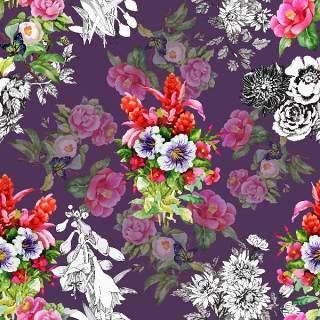 可爱的水彩无缝花卉和其他图案25