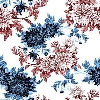可爱的水彩无缝花卉和其他图案13