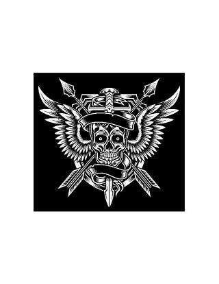 木刻风格服装的T恤印花02