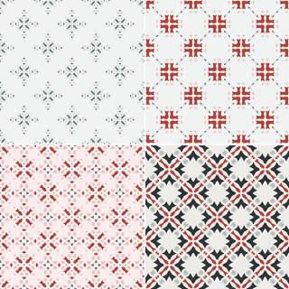 优雅的几何无缝图案集合02