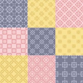 优雅的几何无缝图案集合18
