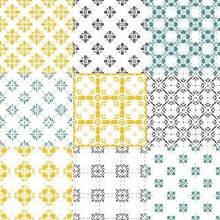 优雅的几何无缝图案集合05