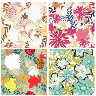 无缝花卉图案套装24