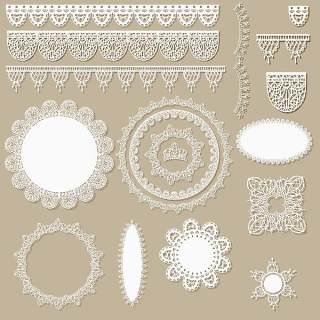 花边装饰和花卉图案02
