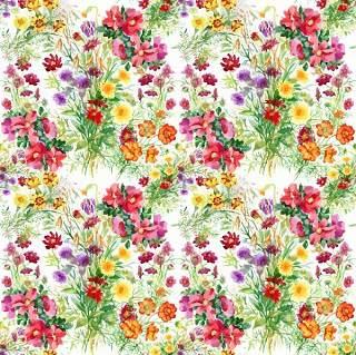 可爱的水彩无缝花卉和其他图案11