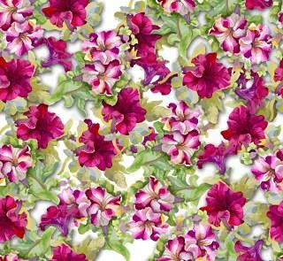 可爱的水彩无缝花卉和其他图案05