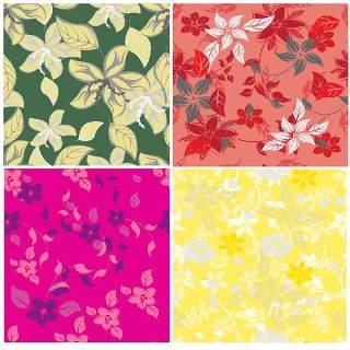 无缝花卉图案套装13