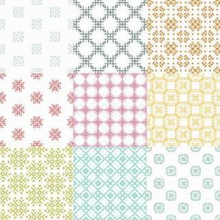优雅的几何无缝图案集合23