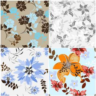 无缝花卉图案套装22