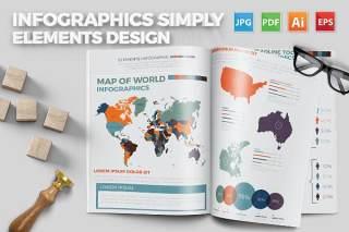 信息图形图表简单设计 infographics simply design