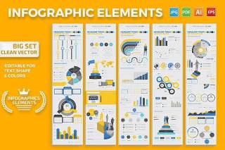 信息图形图表元素模板 Infographics Elements