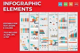 统计信息图表矢量模板设计 Infographic Elements