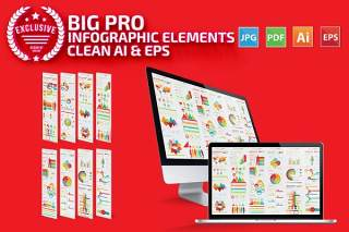 数据分析信息图表元素模板 Infographics Elements Template