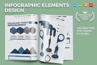 箭头信息图表矢量素材 Infographics Elements