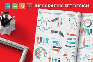 创意组合信息图表图形设计 Infographics Design
