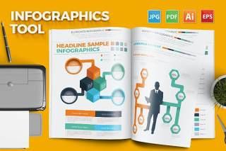 多彩信息图表矢量素材工具 Infographics Tool