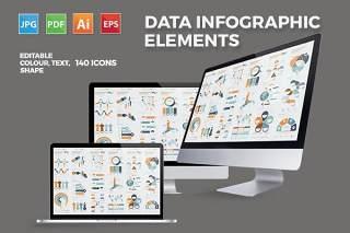 数据信息图形图表模板设计 Infographics Elements Design
