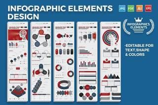 混搭信息图表元素模板素材 Infographics Elements