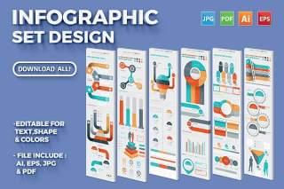 多用途信息图表元素矢量素材 Infographic Set