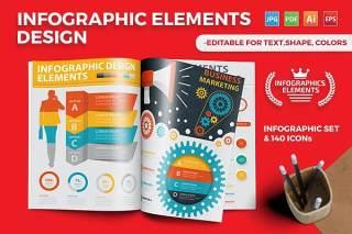 多用途信息图表模板设计矢量素材 Infographics Template Design