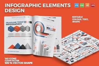 可编辑创意信息图表模板 Infographics Elements