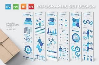 蓝色信息图形设计Blue Infographics Design