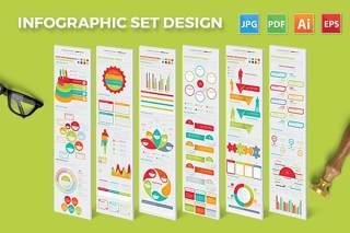 多彩信息图表矢量素材设计 Infographic Elements Design