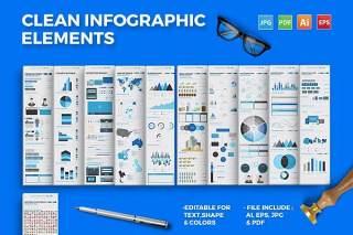 插画信息图表矢量元素设计 infographics