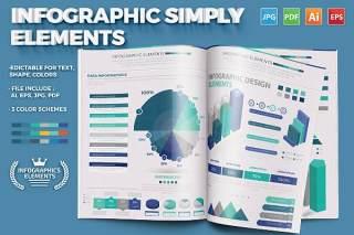 简单的信息图表元素设计Simply Infographics