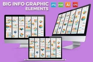统计信息图表元素设计素材Big Elements Infographics Design