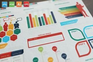 数据展示分析信息图表元素模板设计Present Infographics Elements Design