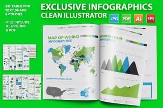 独家信息图形元素设计素材元素Exclusive Infographics Elements Design