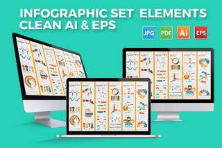 商务商业信息图形图表设计元素Business Infographics Design