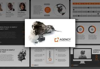 服务机构PPT幻灯片演示模板Agency PowerPoint Template