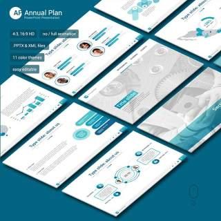 商务年度计划PPT模板annual plan powerpoint
