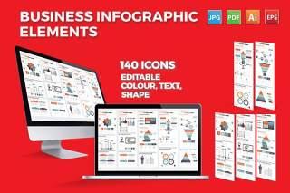 商业商务信息图表元素素材Business Infographics Elements