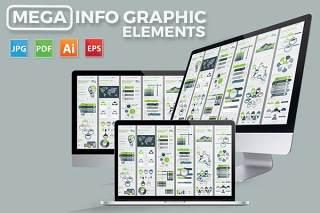 大型信息图形元素Mega Infographics Elements